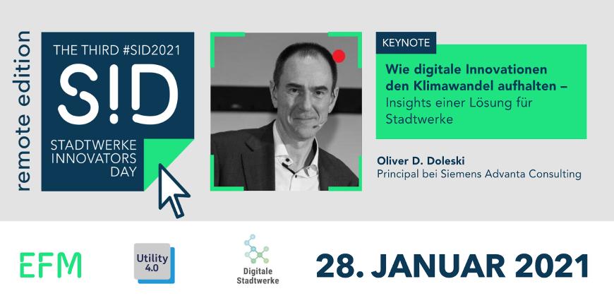 Keynote #SID2021: Wie digitale Innovationen den Klimawandel aufhalten - Insights einer Lösung für Stadtwerke